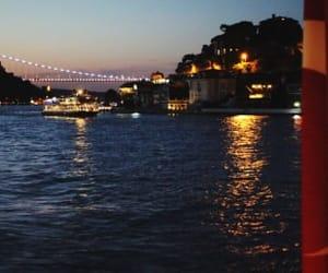 istanbul, night, and sea image