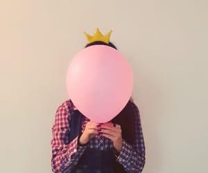 balloon, crown, and princess image