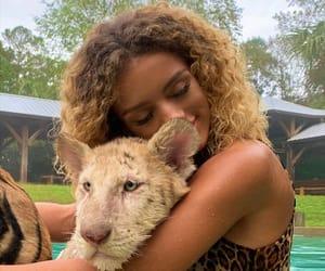 animals, girl, and animaux image