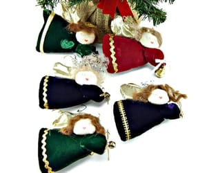 christmas, christmas ornaments, and velvet image