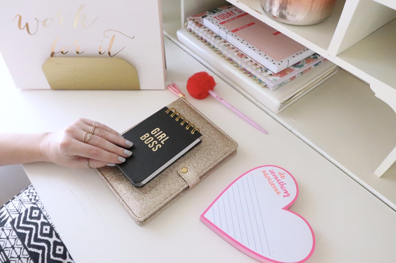 notebooks, office, and planner image