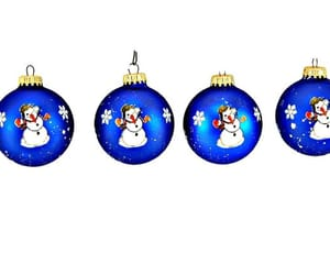 ball, blue, and christmas ornaments image