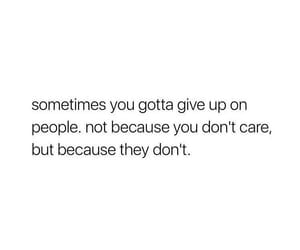 quotes, give up, and sad image
