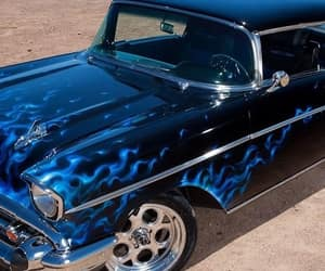 blue, cars, and flames image