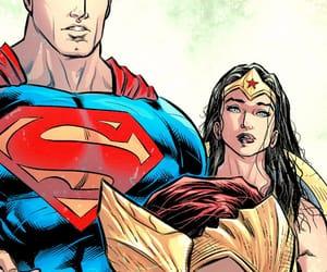 clark kent, superman, and wonder woman image