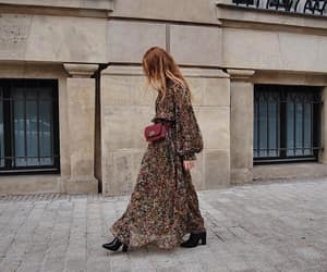 bag, boho, and dress image