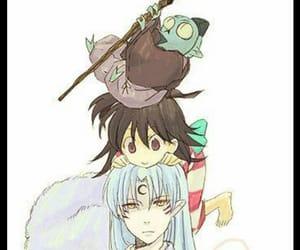 rin, sesshomaru, and jaken image