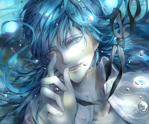 anime, guy, and water image