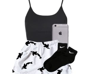 iphone, tank top, and cute image