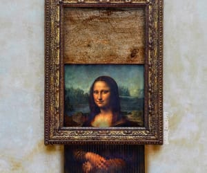 art, BANKSY, and mona lisa image