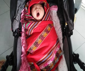 babe, yawning, and cute image
