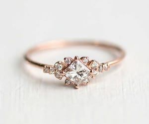 engagement ring and rose gold image