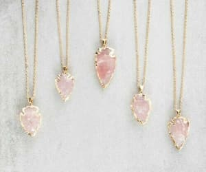 pink, necklace, and accessories image