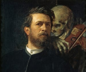 arnold bocklin, music, and art image