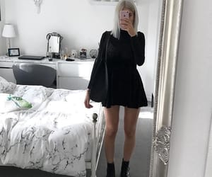 black, casual, and dress image