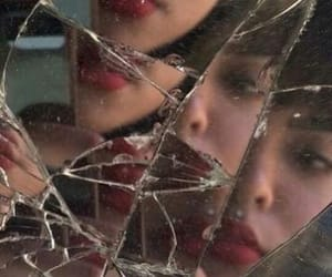 aesthetic, mirror, and bangs image
