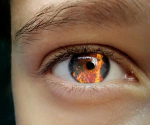 blue eyes, eyes, and fire image