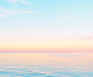 colors, ocean, and pastel image