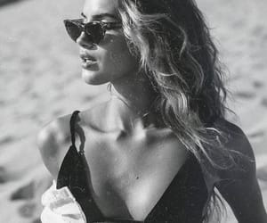 black and white, summer, and beach image