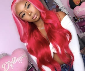frontal, highlight, and wig image