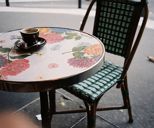 coffee, cafe, and chair image