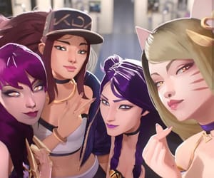 lol, kda, and kpop image
