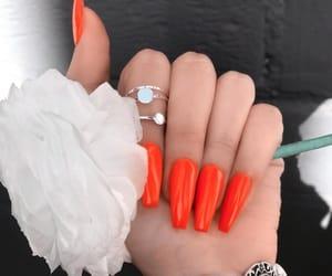 inspiration, nails, and orange image