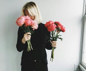 fashion, flowers, and black image