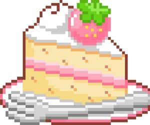 cake, pixel, and pastel image