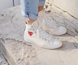 sneakers, converse, and white image