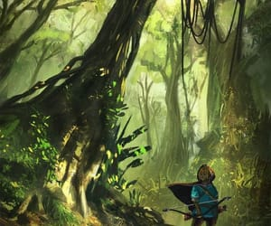archery, Legend of Zelda, and botw image