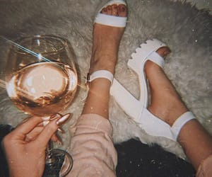 drink, shoes, and white image