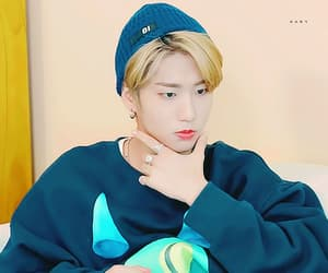 blonde hair, j.one, and stray kids image