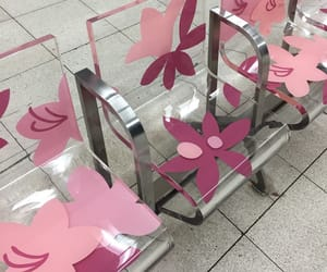 chair, clear, and flowers image