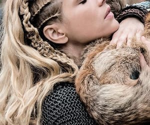 vikings, lagertha, and braid image