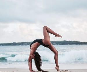 beach, girl, and body image