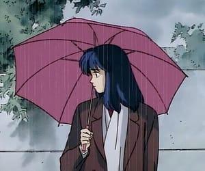 anime, aesthetic, and rain image