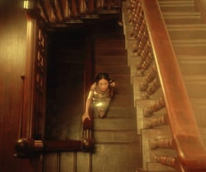 gold, stairs, and jing wen image