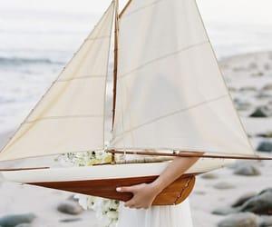 beach, sailboat, and model image