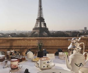 paris, breakfast, and eiffel tower image