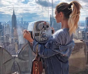 fashion, jeans, and newyork image