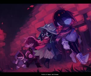 deltarune, kris, and susie image