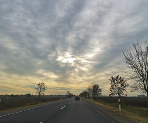 clouds, leica, and road image