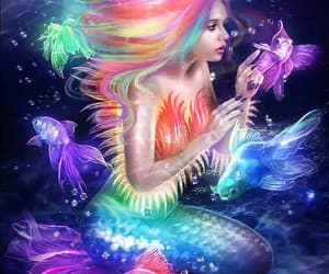 mermaid, fantasy, and art image