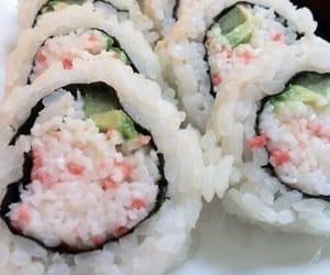 sushi, food, and theme image