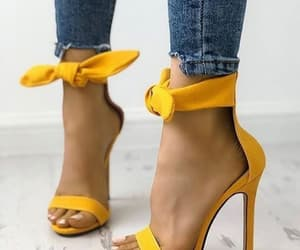 yellow, fashion, and heels image