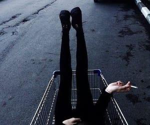 aesthetic, black, and leggins image