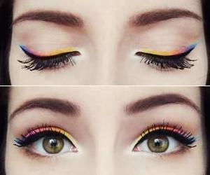 eye liner, photography, and simple image