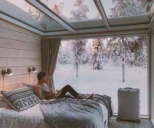 snow, winter, and bedroom image