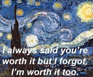 painting, quote, and vincent van gogh image